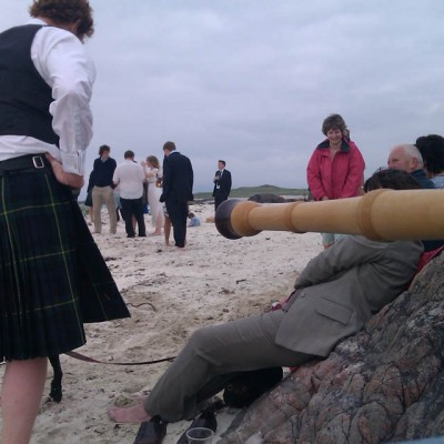 Cèilidh on a beach in Iona