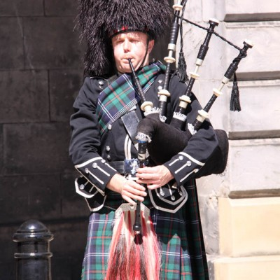 Piping at the City Chambers, Edinburgh